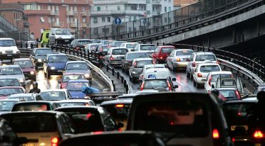 Naples ring road, intense traffic