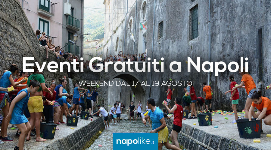 Free events in Naples on weekends from 17 to 19 on August 2018