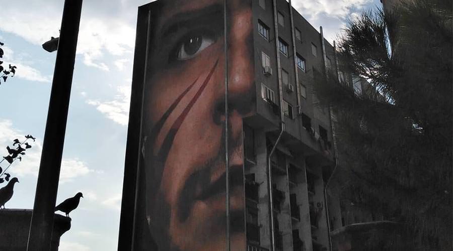 Che Guevara, murales a San Giovanni a Teduccio di Jorit
