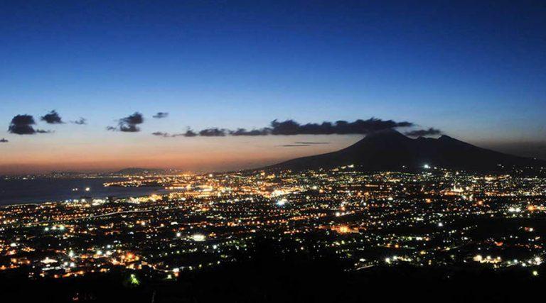 Panorama di Napoli di notte