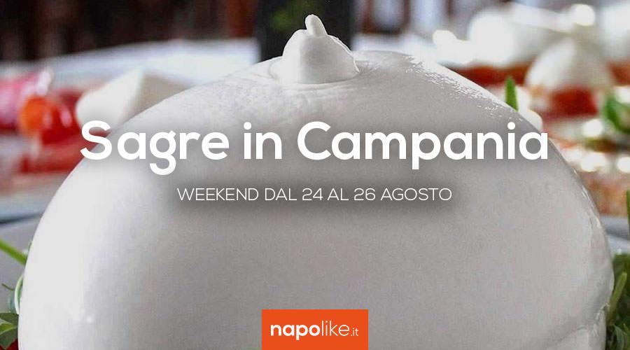 Sagre in Campania nel weekend dal 24 al 26 agosto 2018