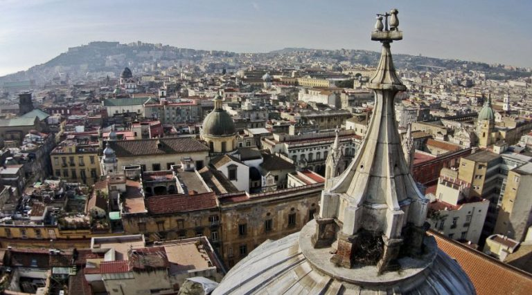 Panorama of Naples from the roof of the Duomo