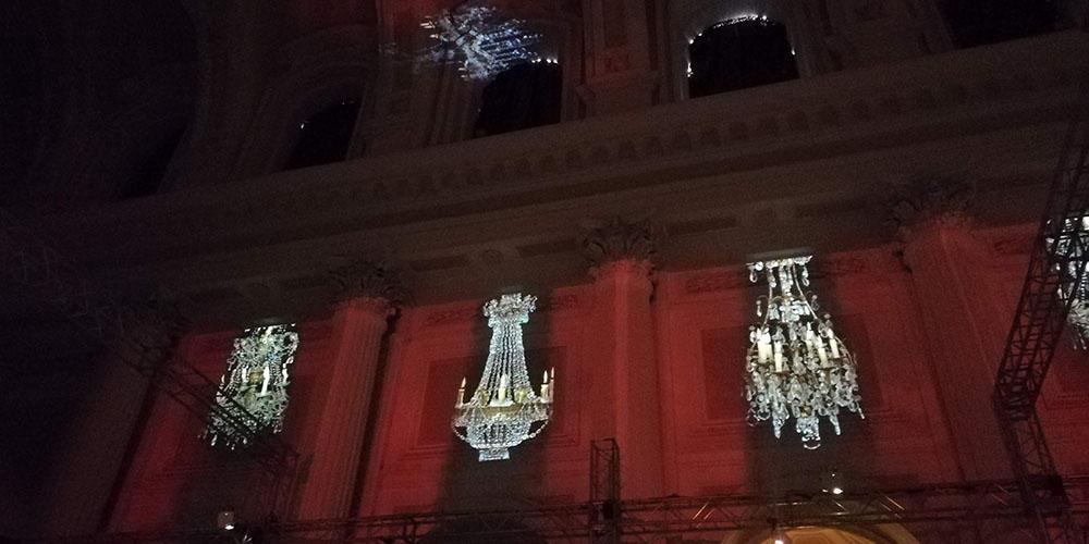 Klimt Experience a Napoli, lampadari