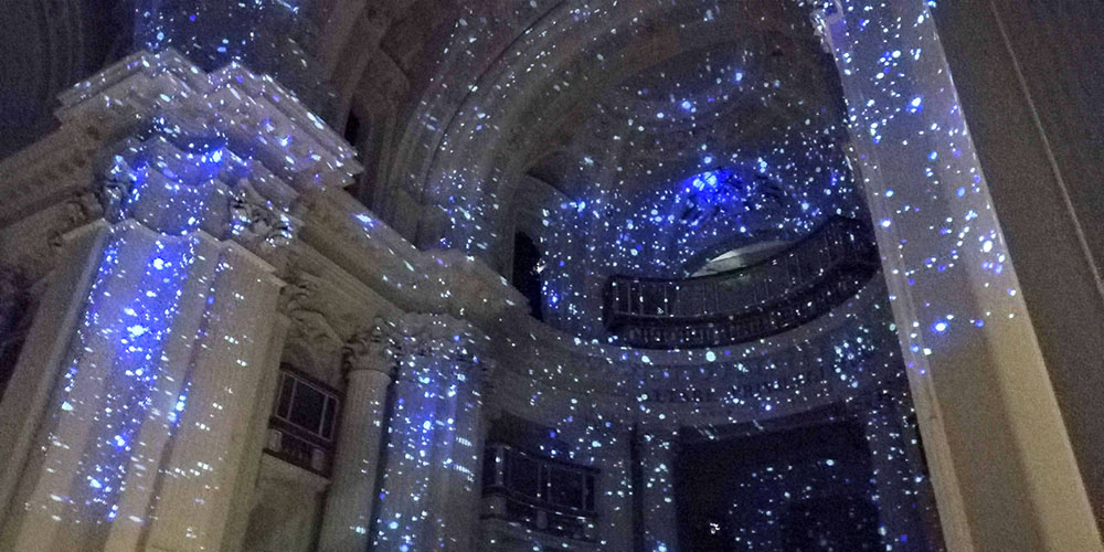 Klimt Experience in Naples, videomapping