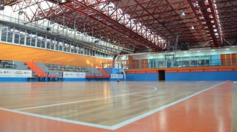 Cancha de baloncesto en el Ester Center of Barra