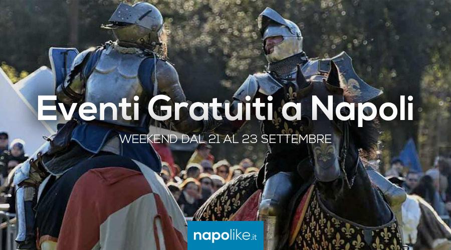 Eventi gratuiti a Napoli nel weekend dal 21 al 23 settembre 2018