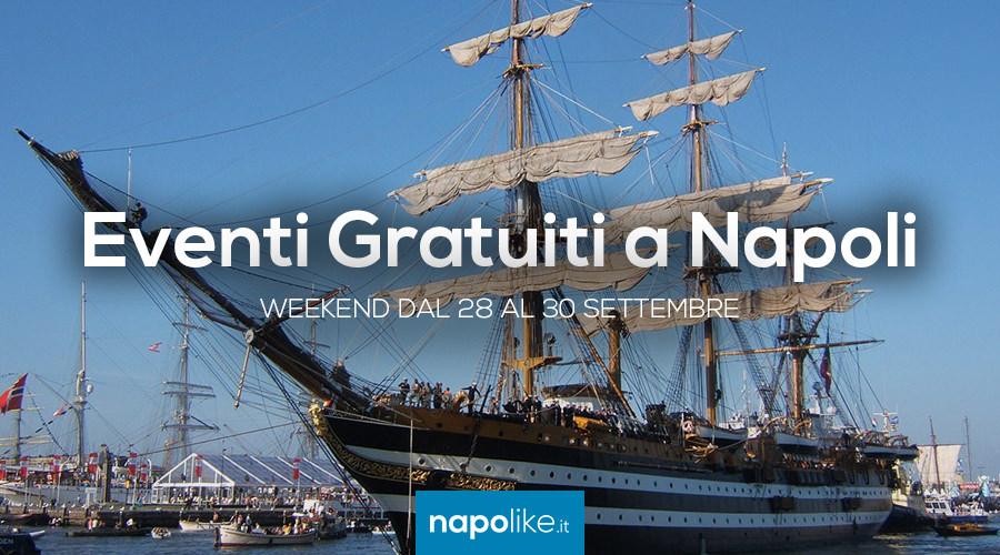 Eventi gratuiti a Napoli nel weekend dal 28 al 30 settembre 2018