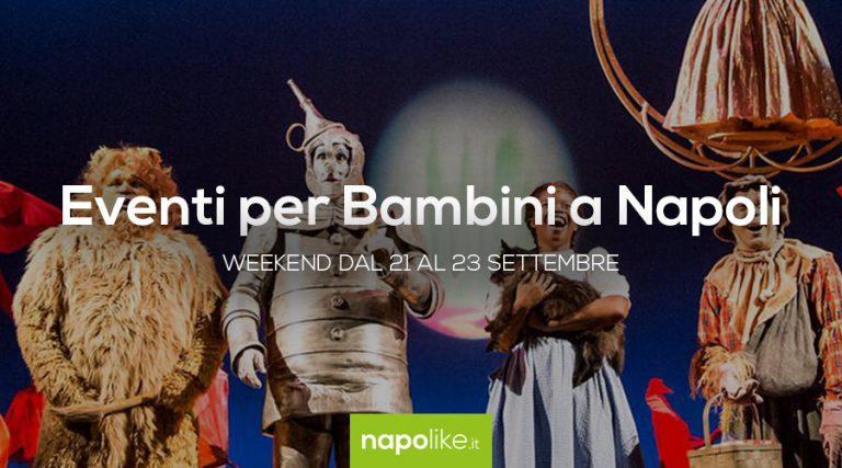 Eventi per bambini a Napoli nel weekend dal 21 al 23 settembre 2018