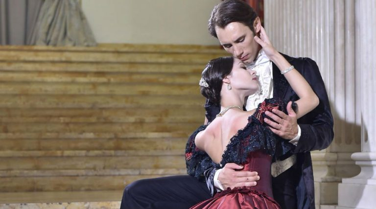 The lady of the camellias staged at the Teatro San Carlo in Naples