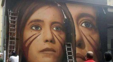Wandbild Ilaria Cucchi
