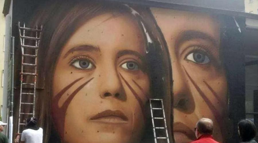 Murale Ilaria Cucchi