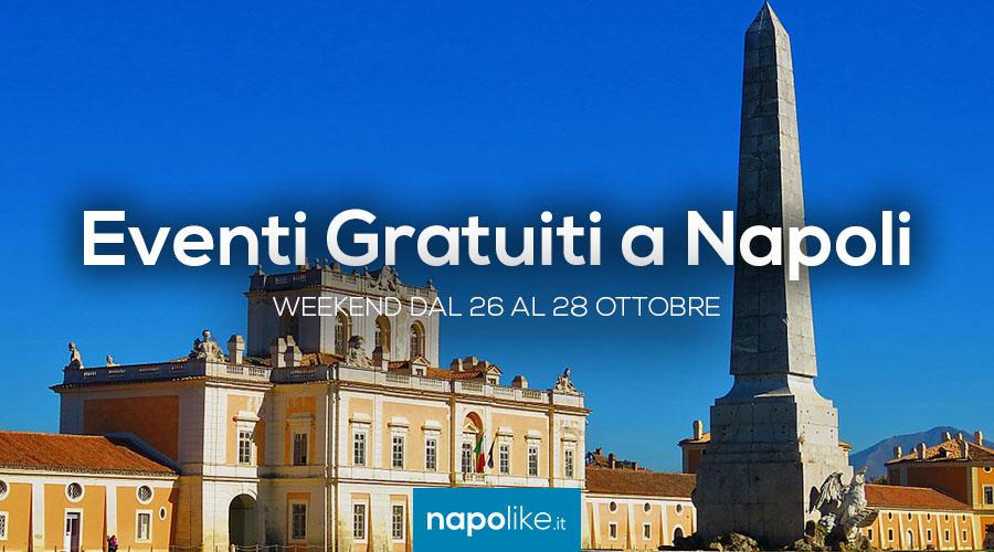 Eventi gratuiti a Napoli nel weekend dal 26 al 28 ottobre 2018