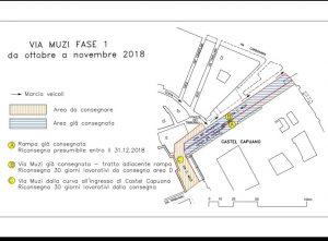Mappa lavori Castel Capuano a Napoli