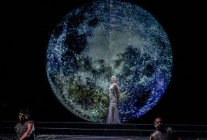 The Salomè show by Oscar Wilde on stage at the Teatro Mercadante in Naples