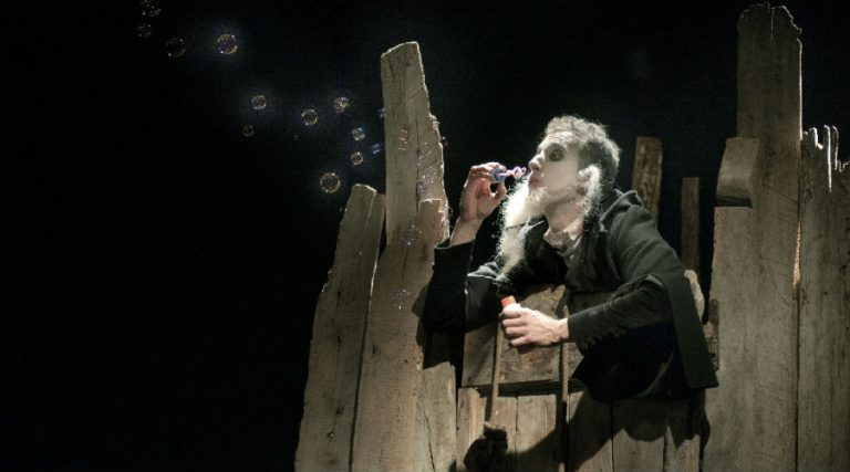 Hamlet on stage at the Nuovo Teatro Sanità in Naples