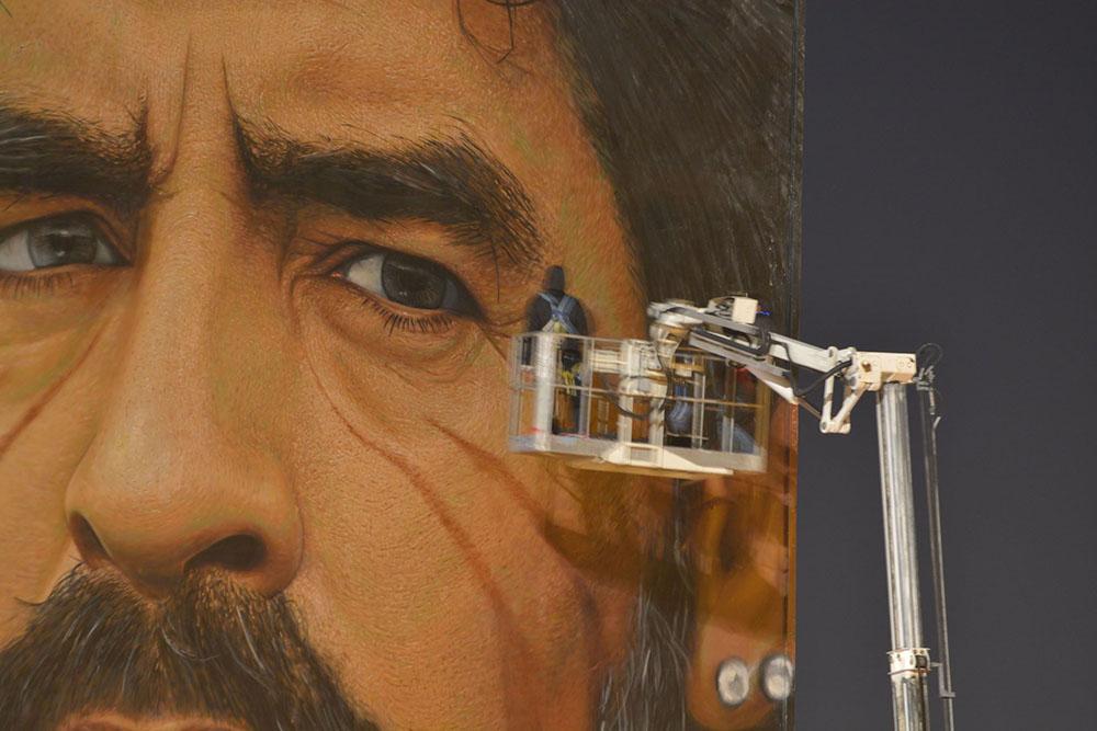 Murales Maradona restauro 1