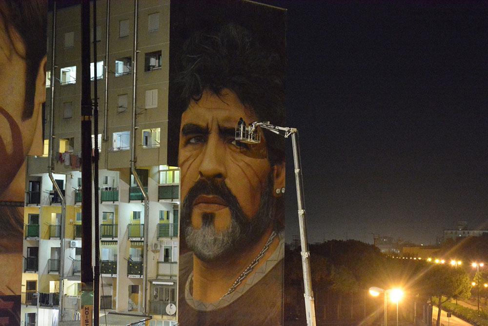 Murales Maradona restauro 2