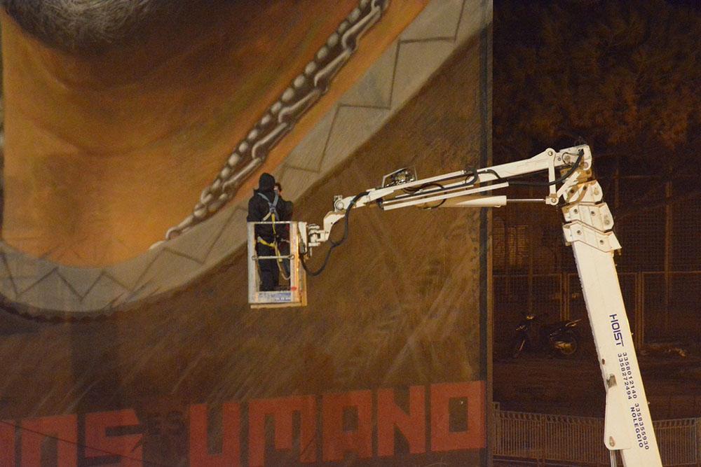 Murales Maradona restauro 3