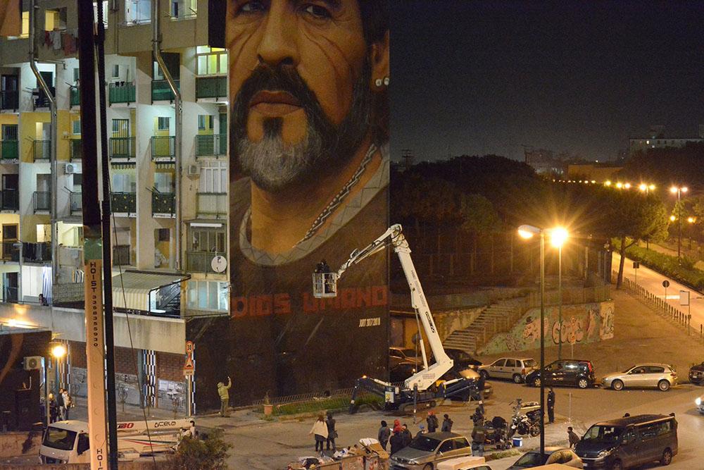 Murales Maradona restauro 4