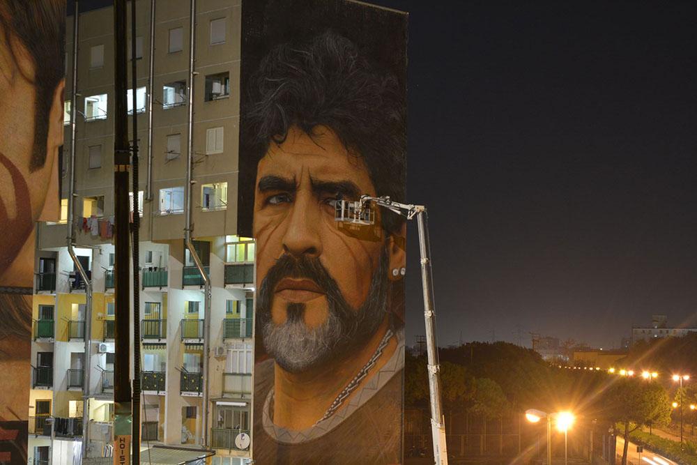 Murales Maradona restauro 5