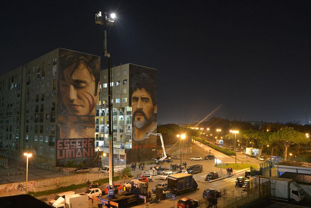 Murales Maradona restauro 7