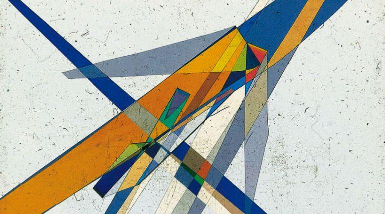 Diapositivas de luz polarizada de Bruno Munari, en exhibición en la Fundación Plart en Nápoles