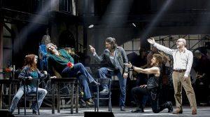 Scena del musical Musicanti a Napoli