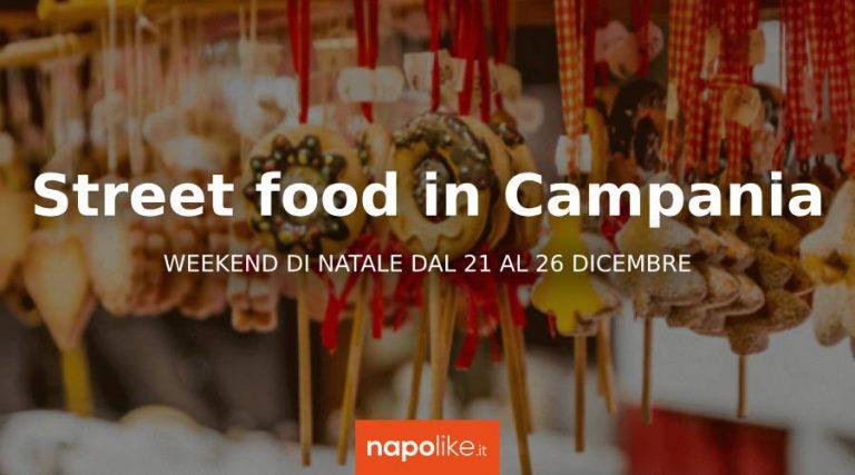 2018クリスマスのためのカンパニアの通りの食べ物