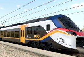 カンパニアに到着する新しい地域のロックとポップの列車