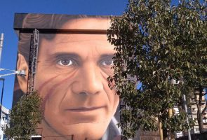 Murals by Jorit dedicated to Pasolini