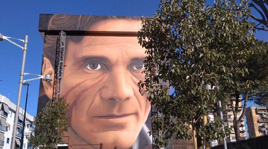 Murales di Jorit dedicato a Pasolini