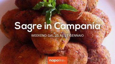 Sagre in Campania nel weekend dal 25 al 27 gennaio 2019