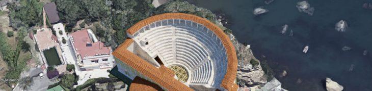 Teatro romano di Miseno dall'alto