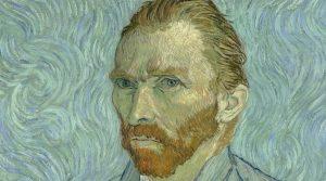 Cartel de Van Gogh Shadow, exposición gratuita en el centro comercial Campania con pinturas animadas