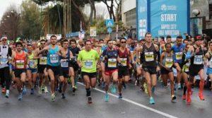 Cartel de Sport Expo y de la ciudad de Nápoles, media maratón 2019 en la Mostra d'Oltremare: un evento ineludible