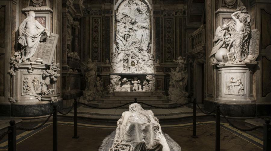 locandina di Ingressi serali alla Cappella Sansevero a Napoli con tanti eventi culturali e visite speciali