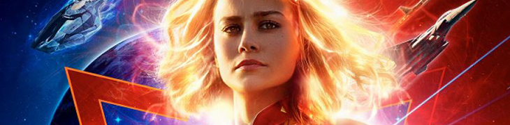 Film at the cinema in Naples in March 2019 with Captain Marvel and Dumbo