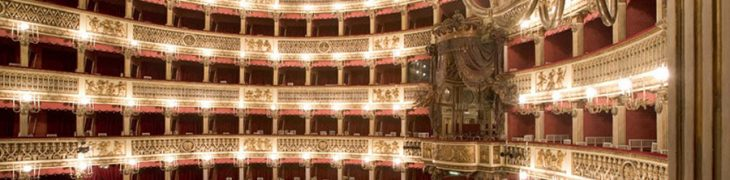 Interior of the San Carlo Theater in Naples