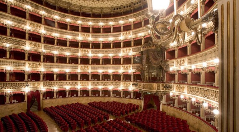 ナポリのサンカルロ劇場の内部
