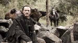 Poster von Bronn von Game of Thrones auf der Comicon 2019 in Neapel: Der Star Jerome Flynn kommt an