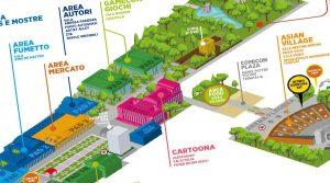 Affiche Comicon 2019 Map à Naples: entrées, aires de jeux et bien plus encore