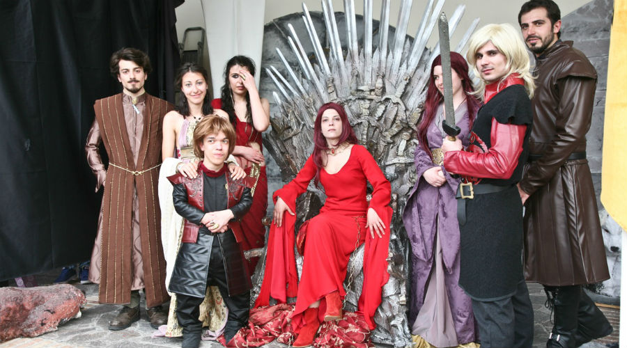 Cosplay von Game of Thrones im Comicon in Neapel