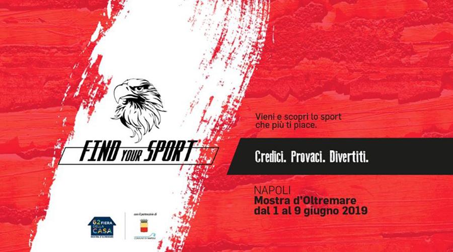 Locandina Find your sport alla Mostra d'Oltremare