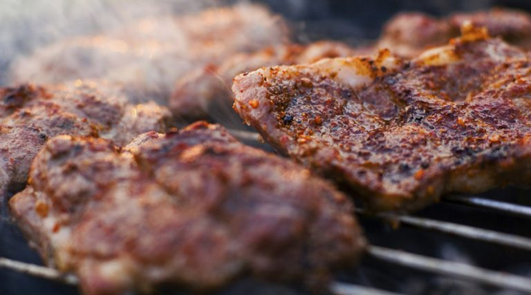 ザリガニ肉のグリル
