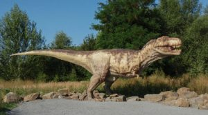 20以上の巨大な恐竜とナポリ動物園でのズーラシック公園のポスター