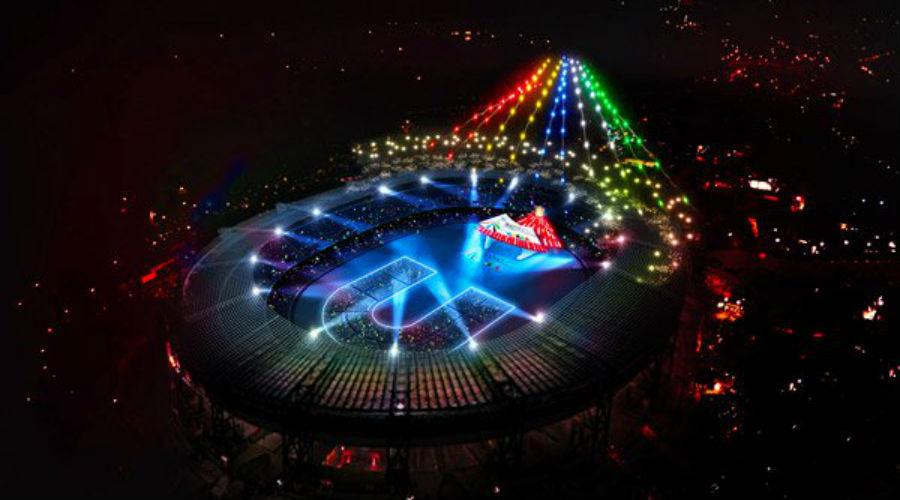 Cerimonia di apertura Universiade 2019 a Napoli