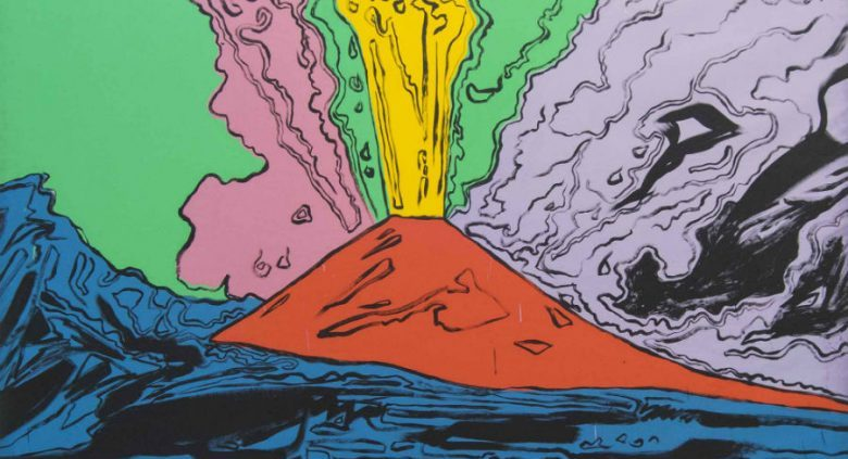 the Vesuvius, the most famous volcano in the world portrayed by Andy Warhol