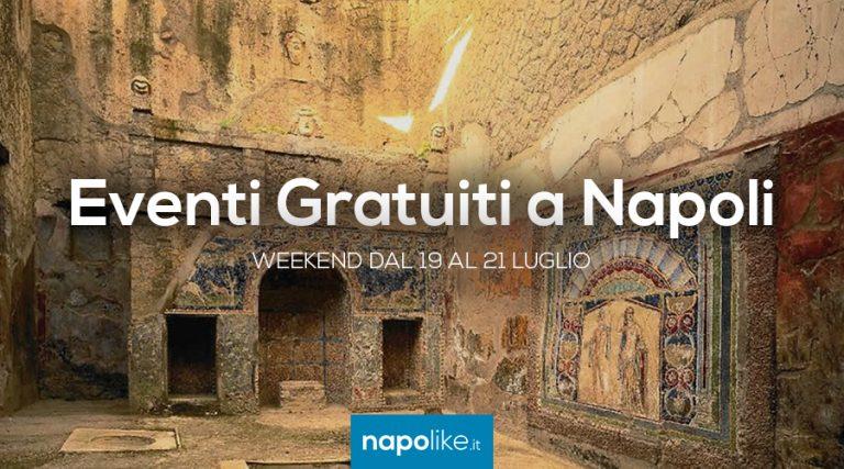 Eventi gratuiti a Napoli nel weekend dal 19 al 21 luglio 2019
