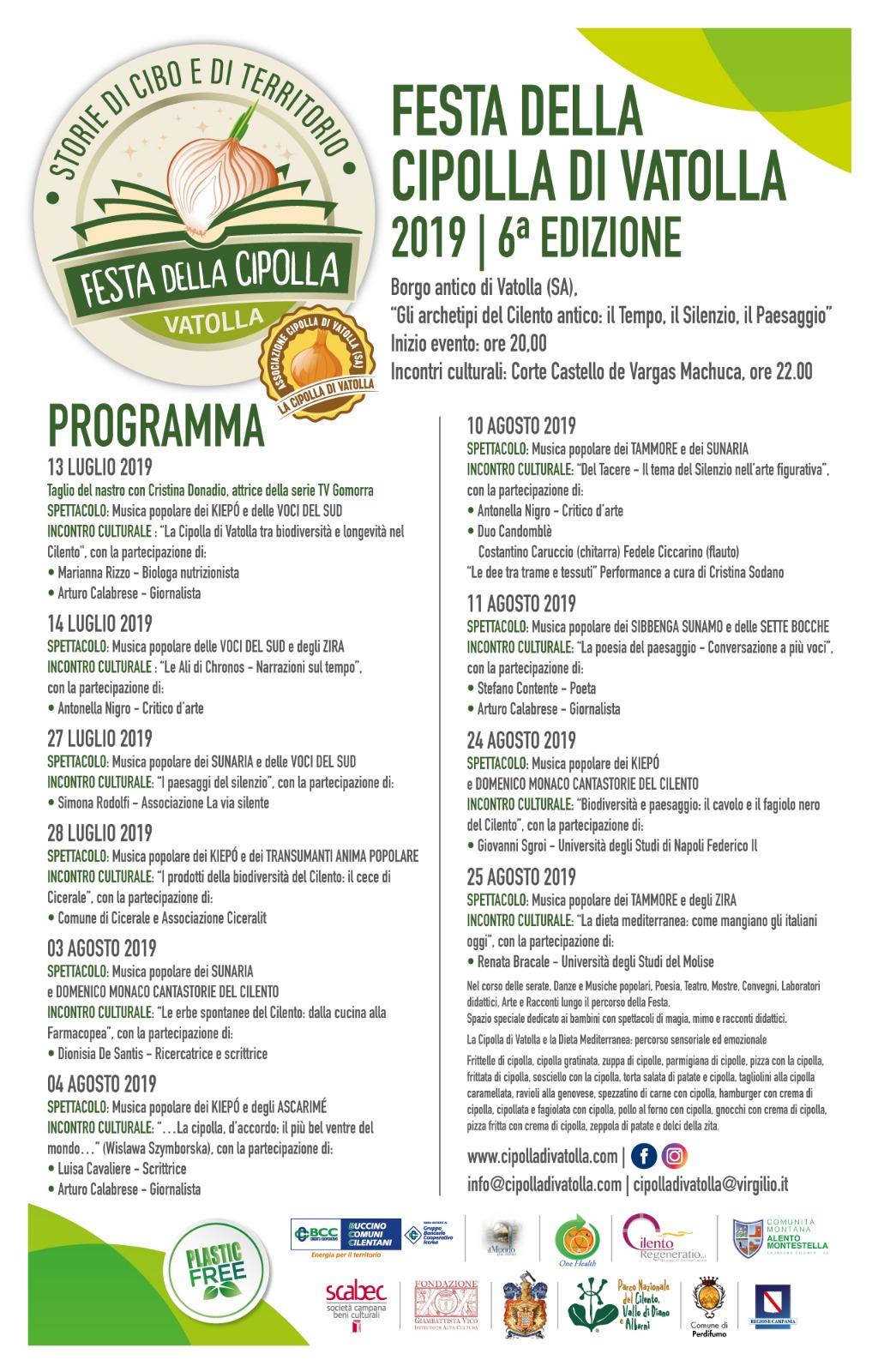 Calendario Cipolle 2019.Festa Della Cipolla Di Vatolla 2019 Con Tante Specialita Del