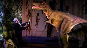 affiche de Dinosaurs Live au Troisi Theatre à Naples: une comédie hilarante dans la préhistoire